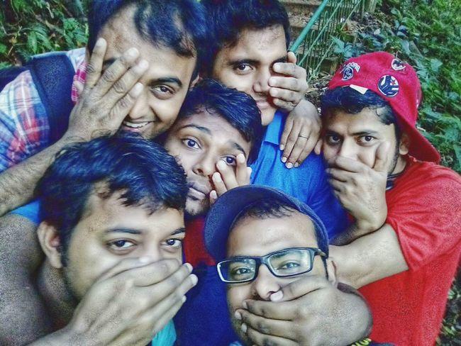 half selfie... Crazy Friends Boom Jack Trekking Long Exposure