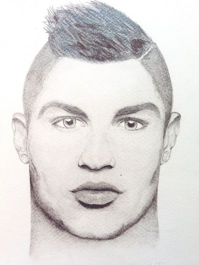 Art Drawing CristianoRonaldo by Frindi