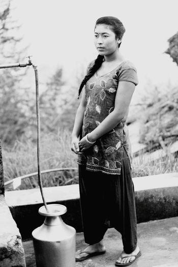 Lady .... Gaurav Dhwaj Khadka Kathmandu Nepal The Portraitist - 2015 EyeEm Awards Nepali Way Life In Nepal Water Tap Life
