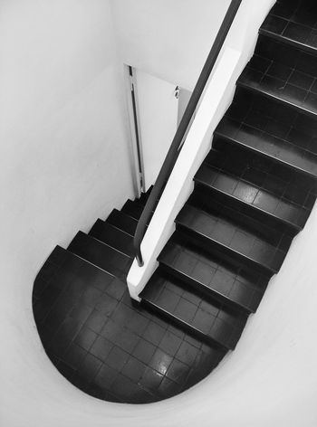 Architecture Blackandwhite High Angle View Indoors  Lecorbusier Staircase Steps Steps And Staircases Sttutgart The Architect - 2017 EyeEm Awards Weissenhof