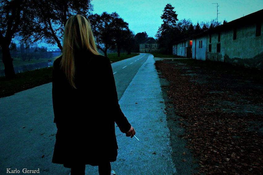 Walking Alone... Cigarette  Picturing Individuality Long Road