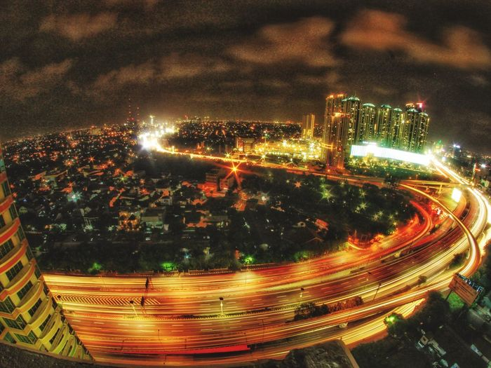 City scape on fish eye Taking Photos Fisheye Cityscapes Nightphotography