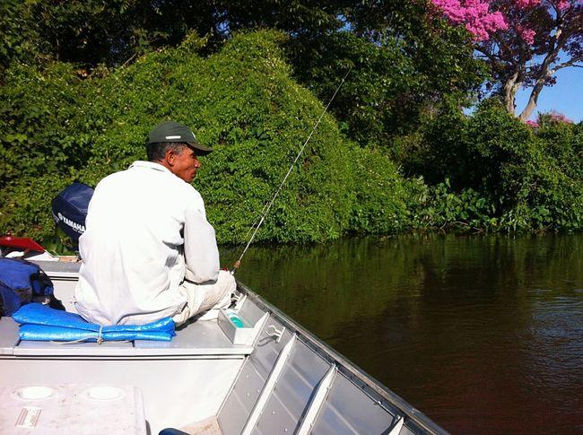 Pescaria Fronteira Mato Grosso Do Sul Ms Brasil Bocaiuva Vida Agua Lazer Pesca Río Paraguay Rio Paraguai Peixe Barco Tree Water Nautical Vessel Men Sitting Baseball Cap Oar