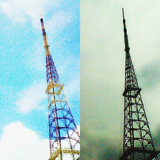 Different Tall - High Sky Tall Communications Tower Cloud Cloud - Sky Blue Gray Color Backgrounds Lifestyles Nature Day
