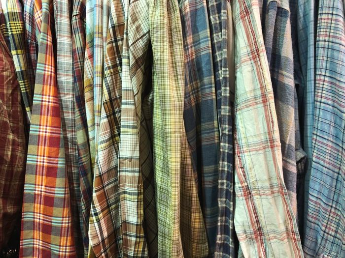P A T T E R N III Clothing Pattern Kleidung Clothing Pels Textile Full Frame Backgrounds No People Pattern Indoors  Hanging For Sale Variation Day Choice Retail  Still Life Store Curtain Clothing Close-up Large Group Of Objects Business Material