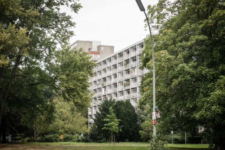 Egon Eiermaan-Karlsruhe Egon Eiermann  Architecture Interbau 1957 Interbau 57 Concrete Tree Architecture Building Exterior Built Structure City No People Low Angle View Apartment Outdoors