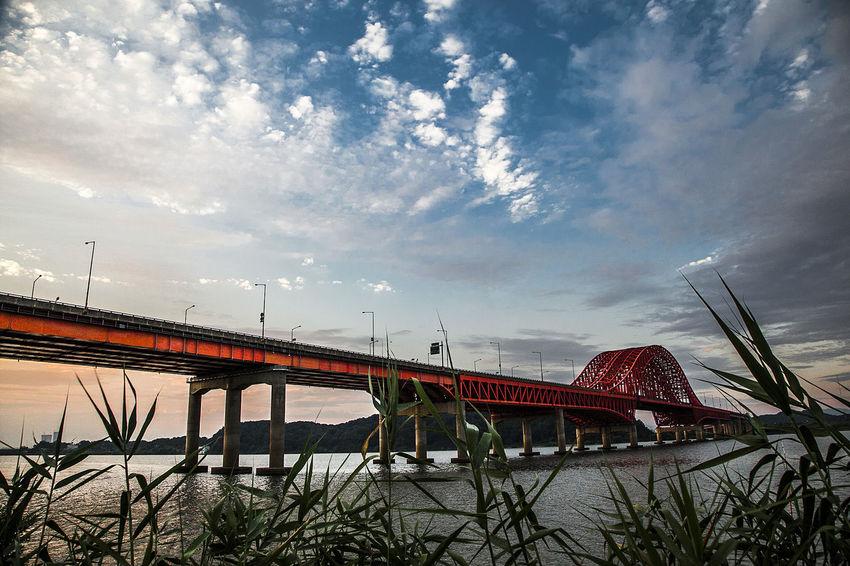 Bangwha Bridge Sunset Han River Sky Cloud Seoul South Korea Korea