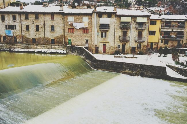 Sant'Angelo in Vado Architecture Water Built Structure Building Exterior Motion Hydroelectric Power Day