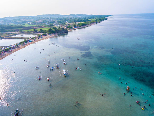 Aerial View Beach Beauty In Nature Day EyeemPhilippines High Angle View Horizon Over Water Large Group Of People Men Mountain Nature Nautical Vessel Outdoors People Real People Sand Scenics Sea Sky Travel Destinations Vacations Water Lost In The Landscape