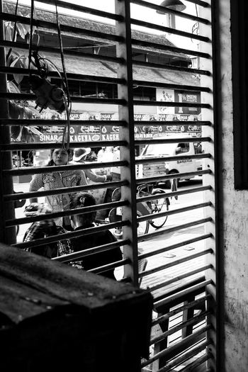 view from the room Amateurphotographer  Amateurphotography Street Photography Streetphotography Travel Destinations Garuda Pancasila Fujifilm Monochrome Javanese Woman Looking At Camera Women Close-up Lock Spiral Staircase Doorknob Safe Shutter Keyhole Fire Escape Door Door Knocker Spiral Steps And Staircases Locked