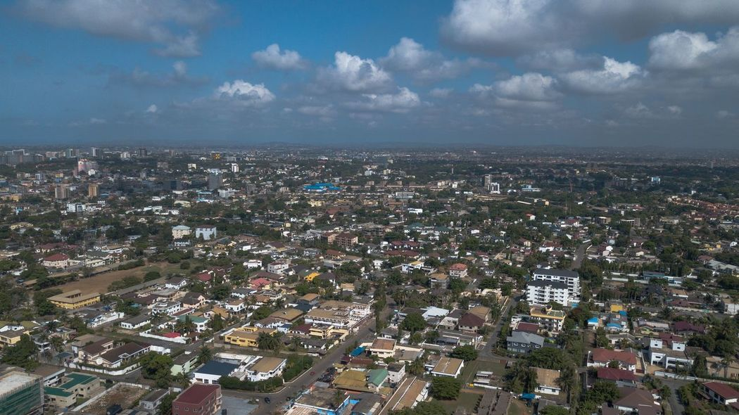 Urban City Onefotos Eyeemghana Dorofoto Building Exterior City Architecture Sky Cityscape Built Structure Cloud - Sky Building High Angle View Residential District Aerial View Outdoors Town Crowded