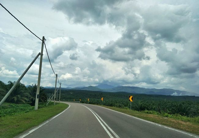 Road Cloud - Sky The Way Forward Transportation Travel Destinations Day Outdoors Storm Cloud Landscape Electricity Pylon Sky Nature