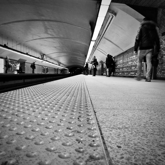 Railroad Station Transportation Public Transportation Railroad Station Platform Indoors  Lifestyles Real People Architecture Montréal Urban Photography Metro Photo Indoor Architecture MontrealByDrMartin Montreal, Canada STM Metro Station Transportation