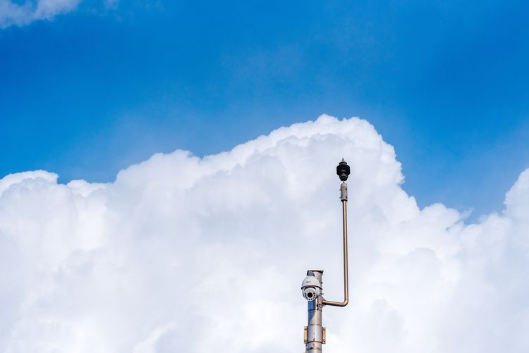 Cloud - Sky Low Angle View Sky Day Blue Outdoors No People Communication