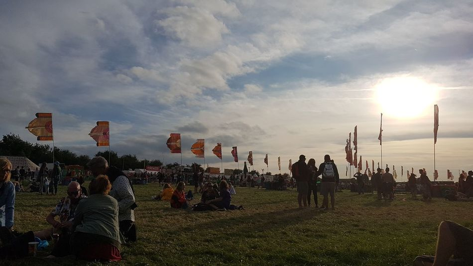 Glastonbury 2017 Sunset. Glastonbury Festival Glastonbury 2017 Sunset Togetherness Outdoors Sky Hanging Out Taking Photos