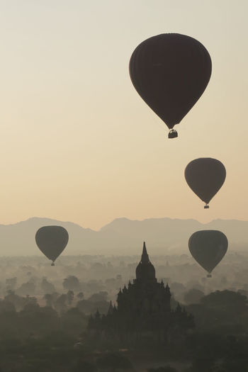 Architecture Bagan Bagan, Myanmar Balloons Balloons Over Bagan Beauty In Nature Burma Day Hot Air Balloon Hot Air Balloons Myanmar Nature No People Outdoors Sky Tree