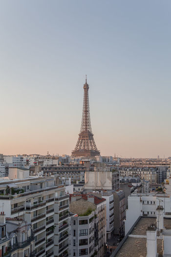 Paris Eiffel Tower Sunset Cityscape Architecture Urban City Cityscape Urban Skyline Skyscraper History City Life Aerial View Cultures Tower Iron - Metal Monument Iron