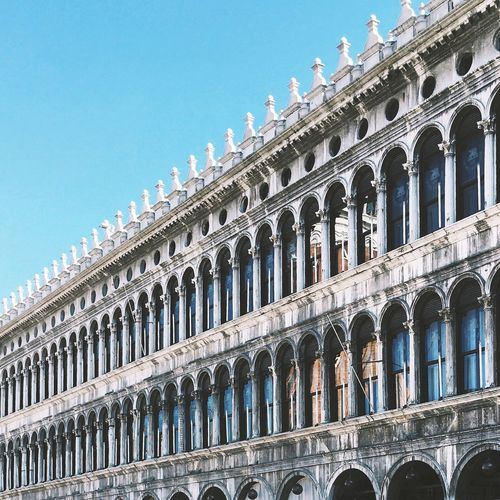 Piazza San Marco, Venice Built Structure Building Exterior Clear Sky Famous Place In A Row Travel Destinations Window Blue City Tourism Architectural Feature Façade Day Repetition StMarksSquare Piazza San Marco Venice Venice, Italy Italy