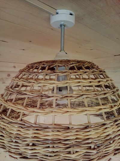 Wicker lampshade made of paper Lampshade Made Of Paper Wicked Wicker Weaving Papercraft Handcraft Handmade Homemade Paper Material Idea Interior Design Lamp Eco-friendly Wood Texture Background Wood
