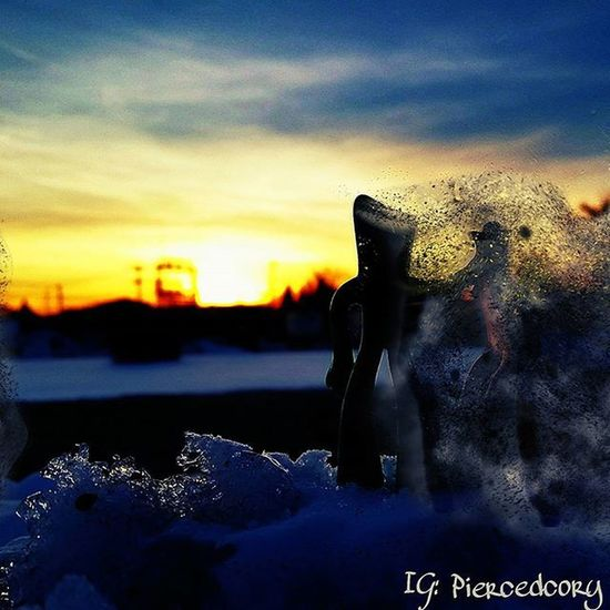 Nothing lasts forever. As the light fades so do we. Gumbyandpokey Sunset Winter Snow