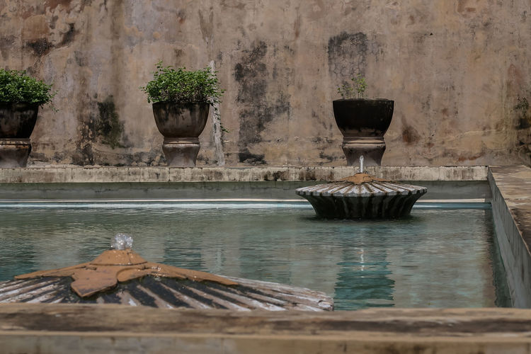 The taman sari swimming pool was once the sultan's spotting place