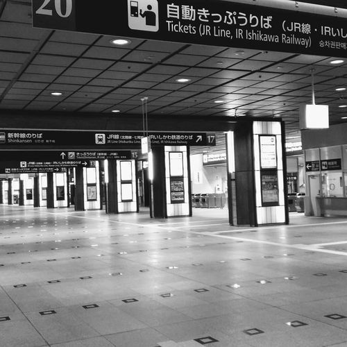 Kanazawacity Central Station Trainstation Teaminalstation Blackandwhite_perfection Wp_bnw My_daily_bnw Kanazawastation Scenery Blackandwhite Monochrome Landscape Kanazawa City,Japan Unkownjapan Japan Photography Japan Scenery Super_japan_channel Landscape_Collection Scenics Beautiful Communication Text Architecture Built Structure Information Exit Sign Signboard Board Information Sign