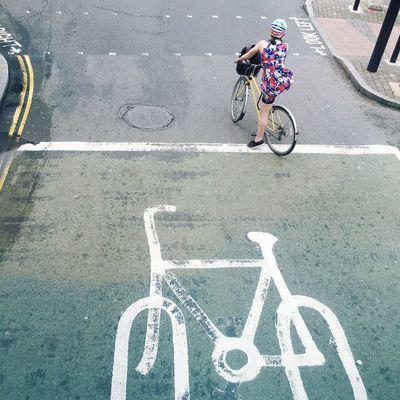 Asphalt City Life Cycling Mode Of Transport Road Road Marking Sign Street Transportation Waiting EyeEm LOST IN London EyeEm LOST IN London