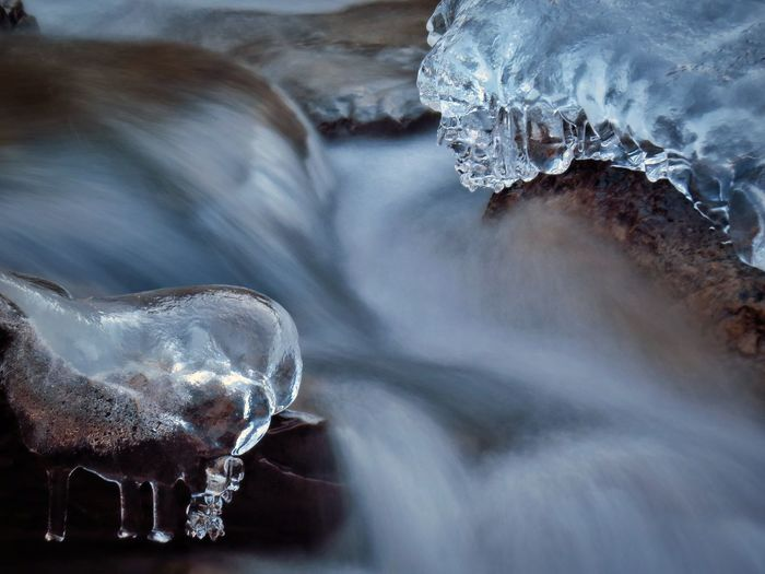 Ice Water Cold Temperature No People Winter Close-up Nature Collection Beauty In Nature Motion Nature Nature Photography Long Exposure Italy Naturelovers Nice Valbrembana Awesome Tranquility Forest Lombardy River