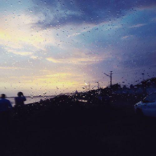 It's rain time.. Raining Weather Nice Sky .. At chopati.. Chopati Sea Awesome ..