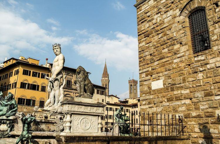 Florence - March 2015 Blue Europe Italy Florence Architecture Building Exterior Built Structure History Sky Day Low Angle View Outdoors Travel Destinations No People Cloud - Sky Sculpture Statue City Ancient Civilization