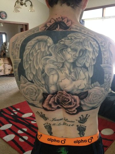 It's all healed these days but this is part of my masterpiece Tattoo Back Piece