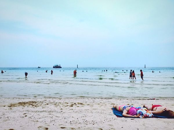 Coral island Water Beach Tanskin Sunrise Blue Occupation Child
