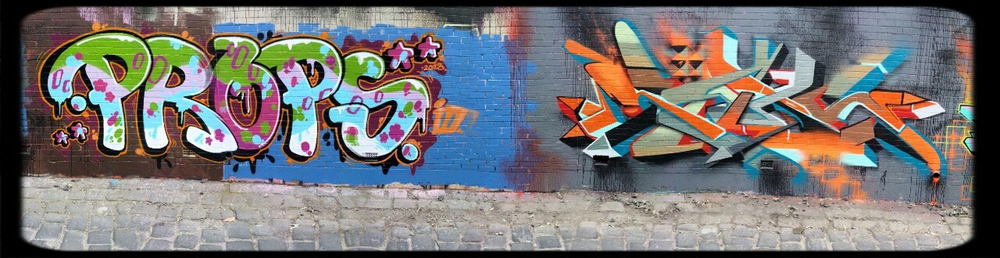 S4be7h & Props Graffiti writers Streetart in melburn