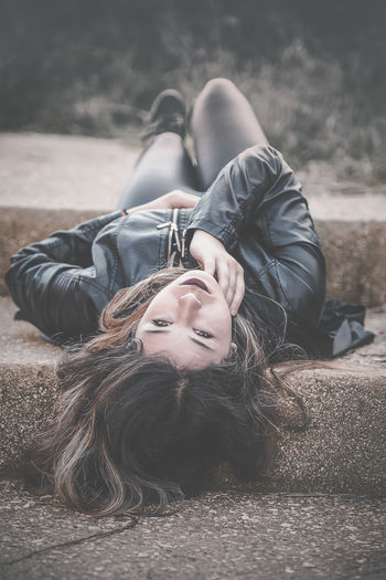 Look at me Adult Adults Only Beautiful People Beauty Beauty In Nature Blond Hair Day Females Happiness Lying Down Lying On Back Nature Outdoors People Portrait Smiling Teenager Two People Women Young Adult Young Women