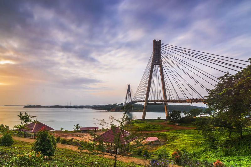 Barelang Bridge INDONESIA Landscape Photography Landscape_Collection Architecture Barelang Bridge In Batam Island Beauty In Nature Bridge Built Structure Cloud - Sky Day Landscape Nature Outdoors Sky Sunset Tranquility Tree Water