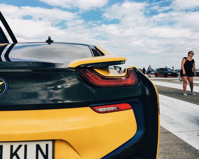 Shapes of the future... Car Transportation Mode Of Transport Land Vehicle Yellow Outdoors Race Drive Electric Car Bmwi8 Bmw Sports Technology Automobile Automotive Auto Auto Racing Inovation Summer Business Lines Future Close-up Cloud - Sky Outdoor AI Now