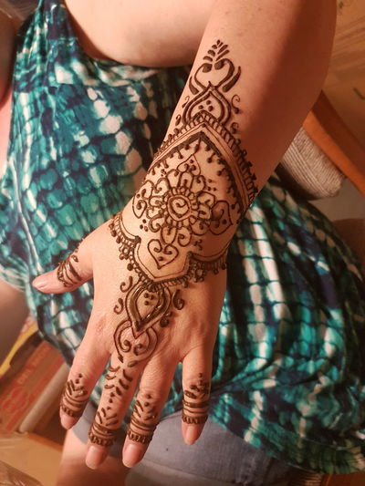 EyeEm Selects Henna Tattoo Tattoo Human Body Part Body Adornment Close-up India Punjablife Tradition Henna Tattoo ❤ MehndiDesign Mehendi Art Mehendi