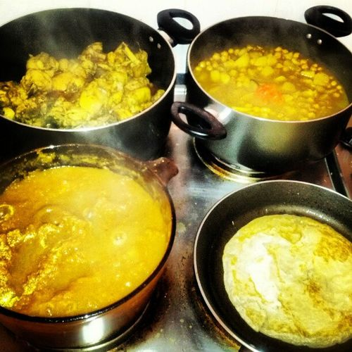 Good food. Good friends.Great times. TriniInUK Curry BubblinApot