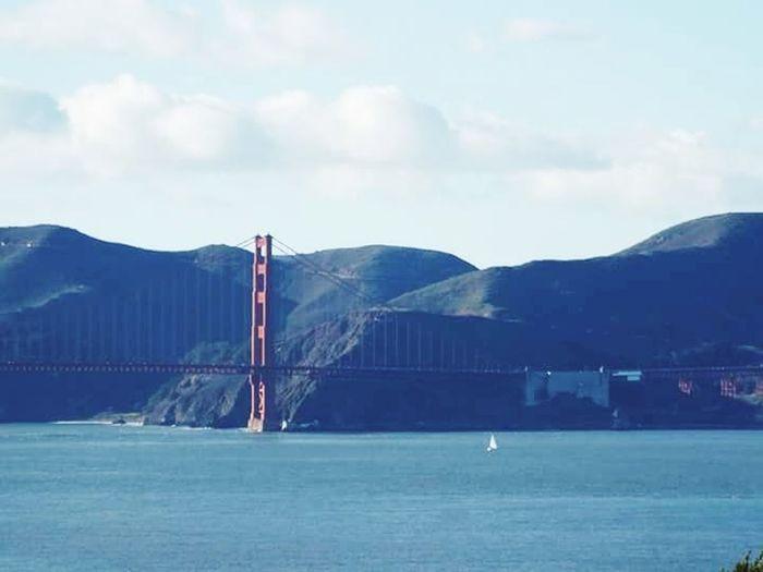 Golden gate Transportation Suspension Bridge Architecture Bridge - Man Made Structure