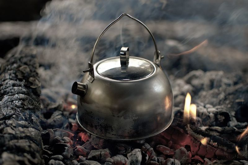 Worth to wait, coffee 😊 Coffee EyeEm Best Shots EyeEm Gallery Coffeetime Outdoors Outdoor Photography EyeEm Selects Camping Stove Heat - Temperature Close-up Campfire Boiling Fire Firewood Coal
