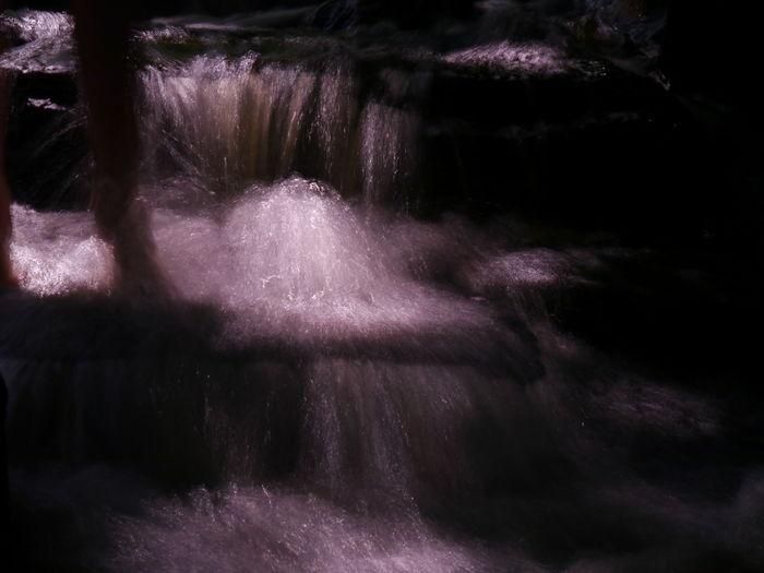 Grey Filter Kids Playing Long Exposure Motion Outdoors Rocks And Water Water Waterfall Purple Berlinstagram Go4foto