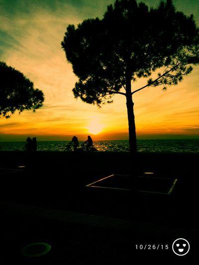 Nea Paralia Thessalonikis Sunset Orange Sky