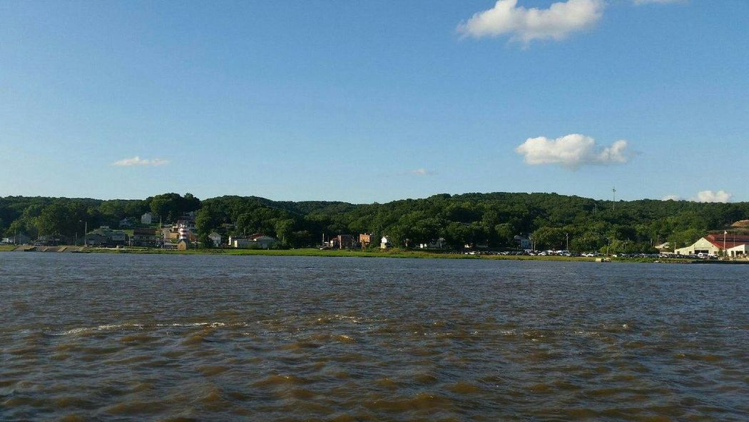Land And Sky Land And Water Mississippi  Mississippi River Sky And Water Landscape Scenic Landscapes Scenery View From The Ferry River River View View Land Scape View Point View From The Water View From The Boat Taking Photos