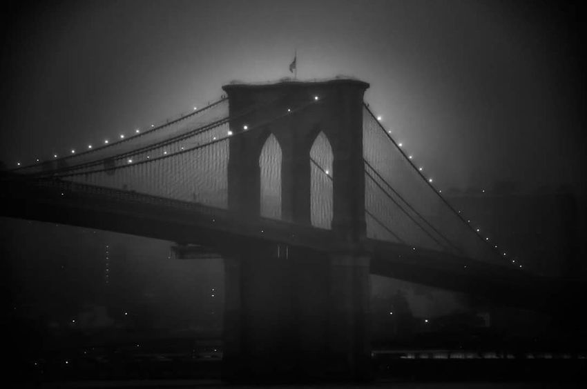 Foggy Night Fog Brooklyn New York Night Travel Destinations City Black And White Atmopshere Eyeemphotography The Week On EyeEm EyeEm Masterclass Fine Art Photography Urban Skyline EyeEm Best Shots Black And White Friday