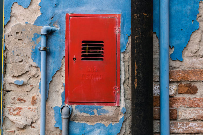 Architecture Burano, Venice Colors Italia Travel Travel Photography Venezia Venezia, Italia Venice, Italy Wall Art Blue Building Exterior Built Structure Burano Color Colorful Day Italy No People Outdoors Photography Red Streetscape Venice