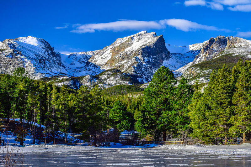 Estes Park, Colorado Denver Estes Park, CO Frozen Snow ❄ Sprague Lake Winter Beauty In Nature Blue Cold Temperature Day Forest Lake Mountain Mountain Range Nature No People Outdoors Scenics Sky Snow Snowcapped Mountain Tranquility Tree Winter