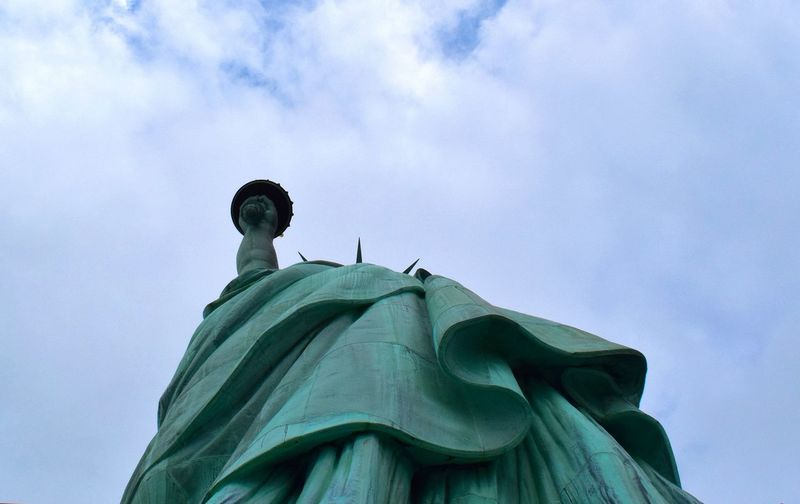 America Cloud - Sky Crown Day Female Likeness Low Angle View Manhattan New York No People NYC Outdoors Sculpture Sky Statue Statue Of Liberty Travel Destinations
