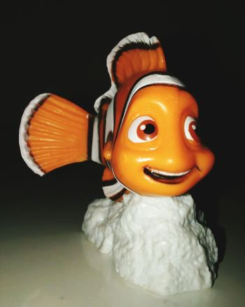 Black Background Studio Shot Figurine  Close-up No People Nemo Nemo :) Eyeemphotography Absolutely Incredible Studio Photography Looking At Camera Multi Colored Figurine  Sculpture Single Object Smile Disney Indoors  Fun Cheerful Amazing Freshness Beauty Front View