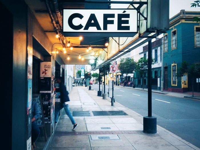 Café. Coffee Shop Store Communication VSCO Streetphotography Lima Perú Outdoors Day City Breathing Space Colour Your Horizn Stories From The City