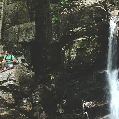 You have to climb to where you want to be. New Hampshire Mountain Waterfall Exotic Eufórica Nature Beautiful Nature Rocks And Water Hiker Journey Travel